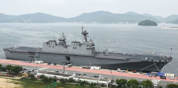 The RoKN commissioned          Marado         , its second Dokdo-class LPH, in a ceremony held on 28 June at the Jinhae Naval Base in South Gyeongsang Province.        (RoKN)