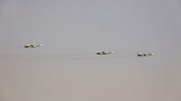 Three Su-24 strike aircraft featured in the LNA parade on 30 May. It is unclear if they were actually flown by Libyans. (Libyan National Army)