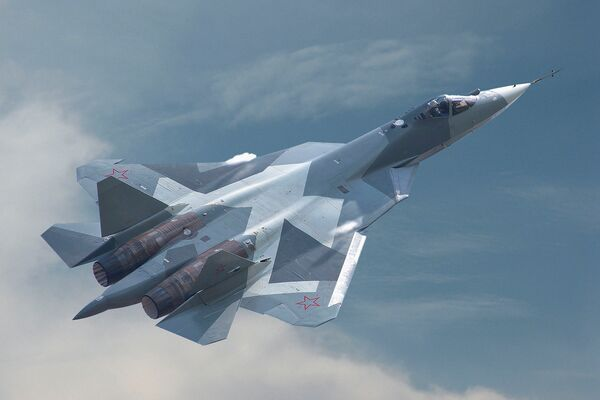 Russian Aerospace Forces are set to receive four Su-57 multirole combat aircraft this year, according to Deputy Defence Minister Alexey Krivoruchko. (Sukhoi)
