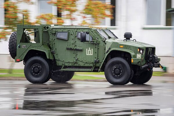 The Lithuanian Army presented its first batch of JLTVs on 17 August. (Lithuanian MND/Pliadis)