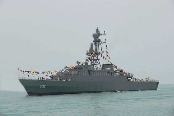 Dena          is the fourth Mowj project frigate to be delivered to the Iranian navy.        (Islamic Republic News Agency)