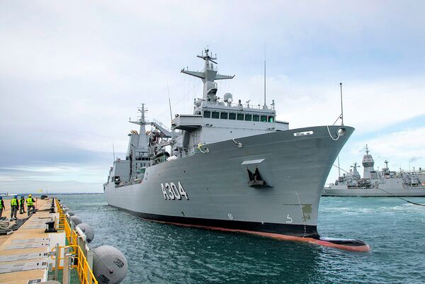 Stalwart         , the second Supply-class AOR on order for the RAN, arrived in Australia on 22 June after having left the facilities of shipbuilder Navantia in northwest Spain on 20 May.        (Royal Australian Navy)