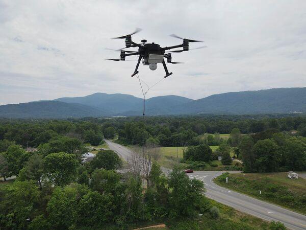 Zenith Quad 8 tethered UAV with radar. (Zenith Aerotech)