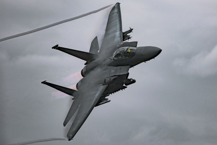 The F-15E Strike Eagle should be equipped with the new EPAWSS electronic warfare pod in the early 2020s, although the status of the upgrade for the F-15C remains unclear. (US Air Force)