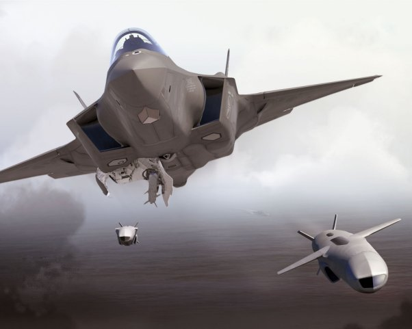 Computer-generated imagery showing an F-35 releasing Joint Strike Missiles (JSMs). Kongsberg announced on 11 March that it had signed a contract to provide an undisclosed number of JSMs for Japan's growing F-35 fleet. (Kongsberg)