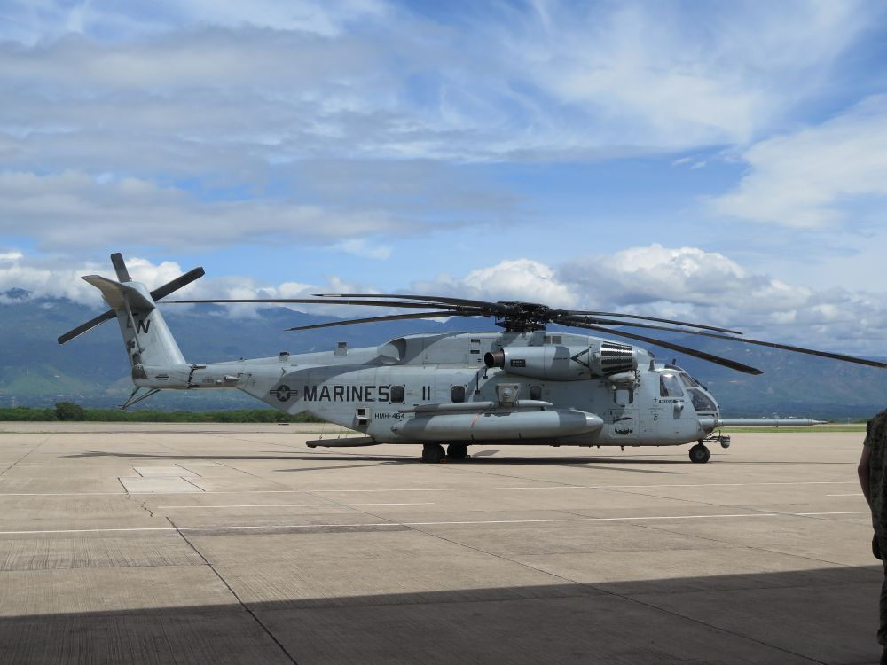 The SPMAGTF-SC deployed to Central America with four CH-53 Sea Stallion helicopters. (Ashley Roque/Janes)