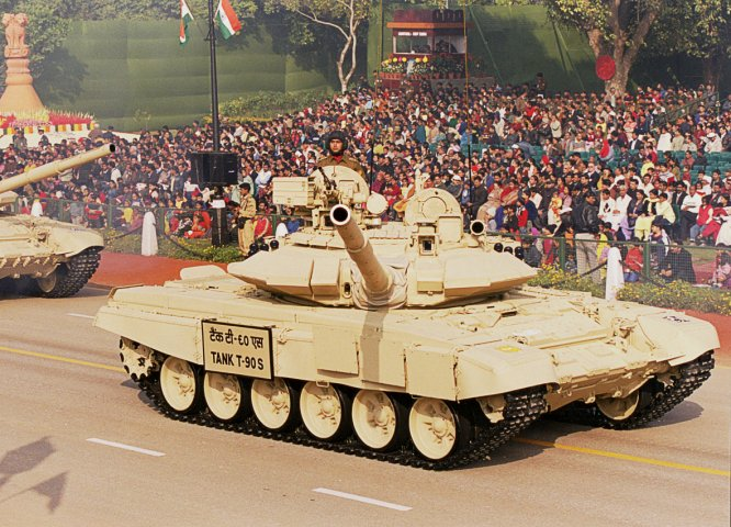 India's state-owned OFB has been awarded a contract to licence-build an additional 464 T-90S MBTs (similar to this one) for the IA, (Indian MoD)