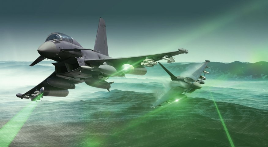 Along with the Boeing EA-18G Growler, the Eurofighter ECR (concept pictured) could form the escort jammer component of the Luftwaffe's airborne electronic attack commitment to NATO. (Airbus)