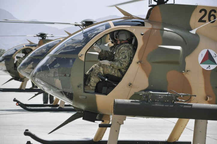 MDHI has received orders for a total of 72 MD 530F helicopters from Afghanistan since 2011, of which 67 will be operational with the Afghan Air Force once deliveries are complete. (438th Air Expeditionary Wing)
