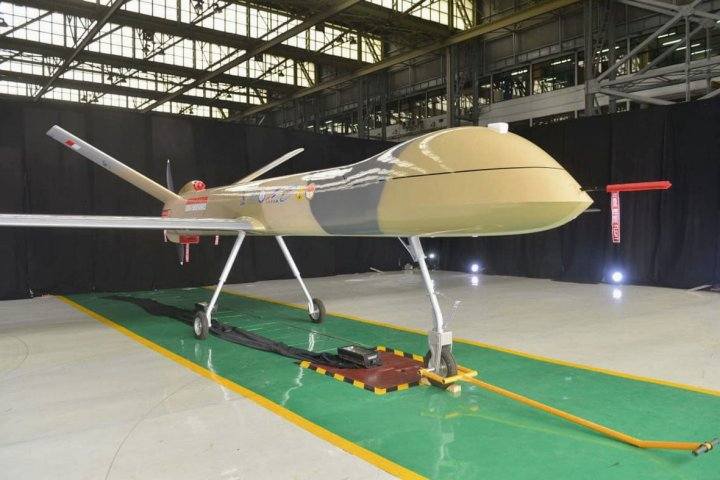 Indonesia's PTDI unveiled a prototype of its Elang Hitam (Black Eagle) armed reconnaissance MALE UAV on 30 December. (PTDI)