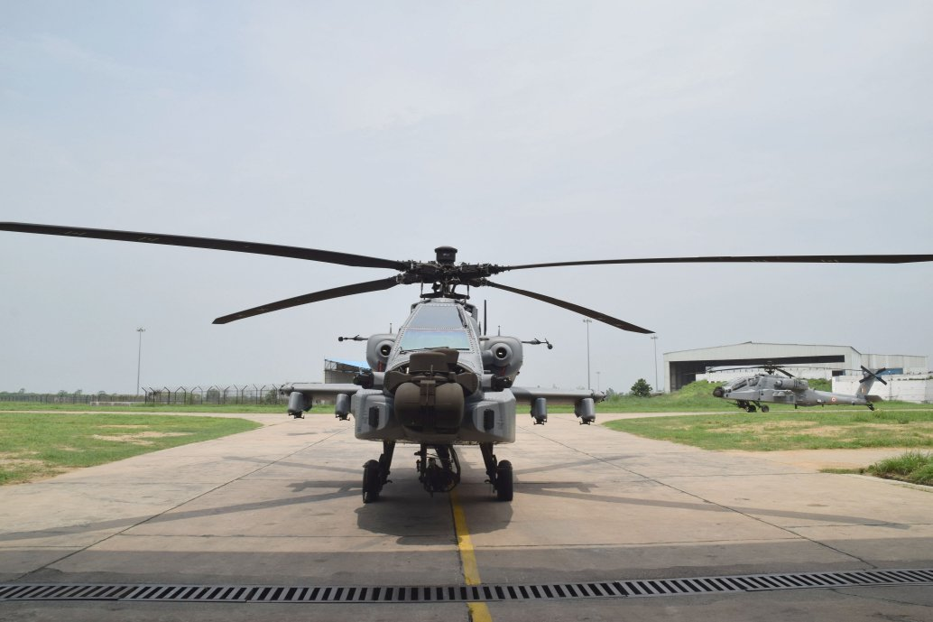 India signed several defence deals on 25 February with the United States, including for the procurement of six 'AH-64E(I)' Apache Guardian helicopters (similar to this one in IAF service) for the Army Aviation Corps. (Boeing)