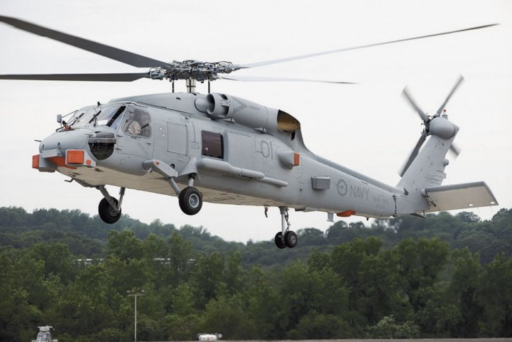 India signed several deals on 25 February with the United States, including for the procurement of 24 MH-60R multirole naval helicopters (similar to this one in Australian service). (Commonwealth of Australia)