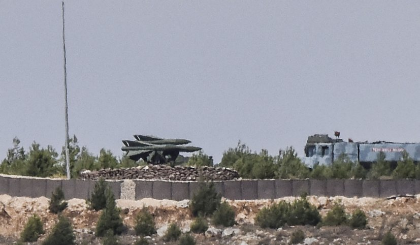 A MIM-23 HAWK launcher is seen deployed in Turkey's Gaziantep region in September 2016. (Bulent Kilic/AFP via Getty Images)