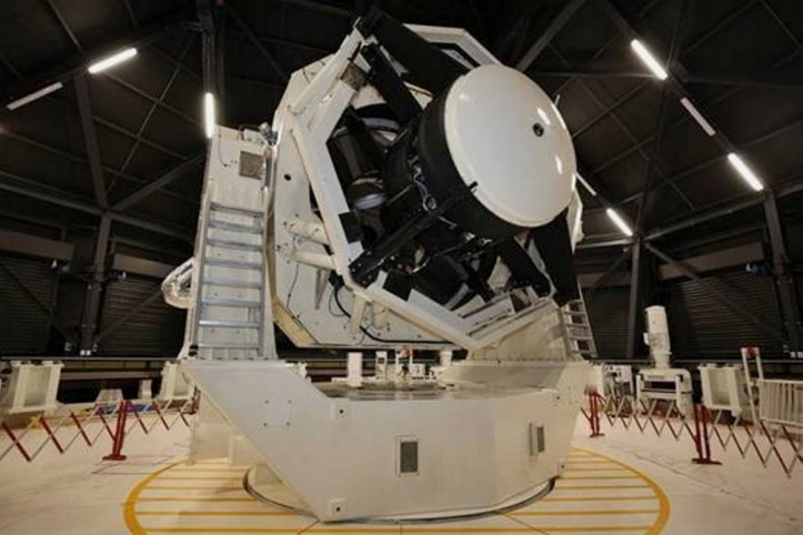 The Space Surveillance Telescope is seen here at the joint Australian-US space facility at Exmouth on Western Australia's Coral Coast. (Commonwealth of Australia 2020)