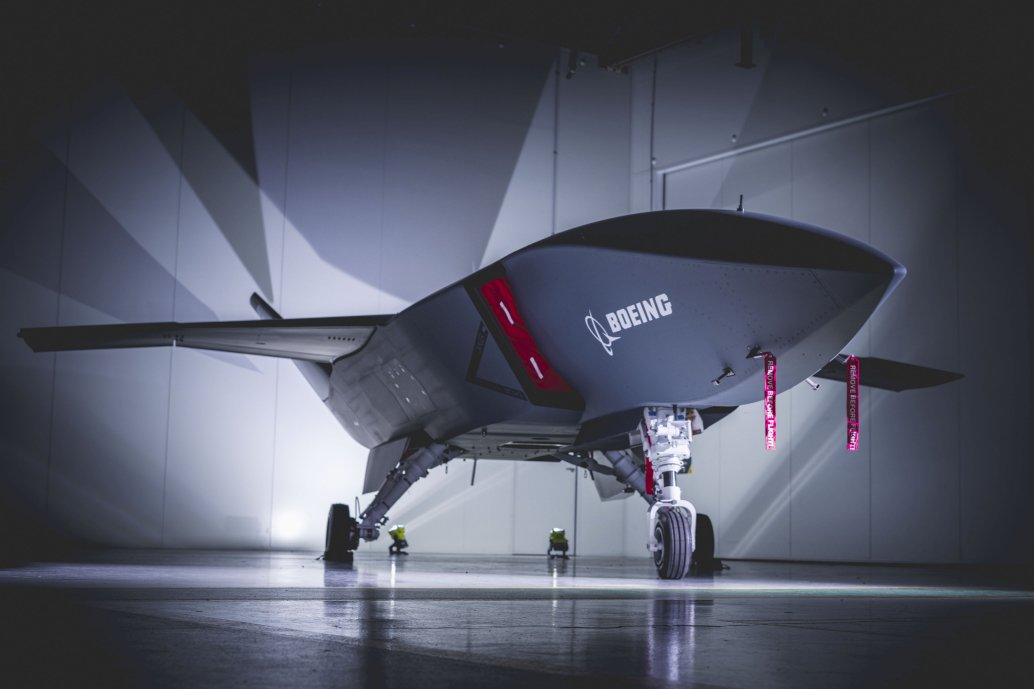 Boeing Australia rolled out the first Loyal Wingman unmanned aircraft prototype on 5 May. (Boeing)