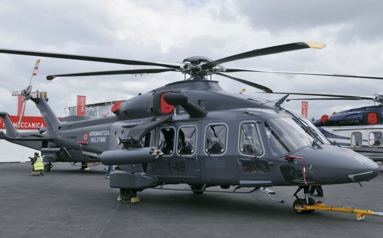Seen in Italian military markings, the Italian government has confirmed that the AW149 has now been sold to Egypt.