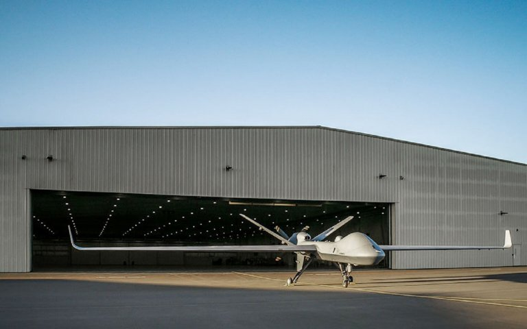 The first production-representative example of the MQ-9B SkyGuardian medium-altitude long-endurance UAV. GA-ASI has already developed at least 200 flight-certified metal and non-metal additive manufactured parts for the type.