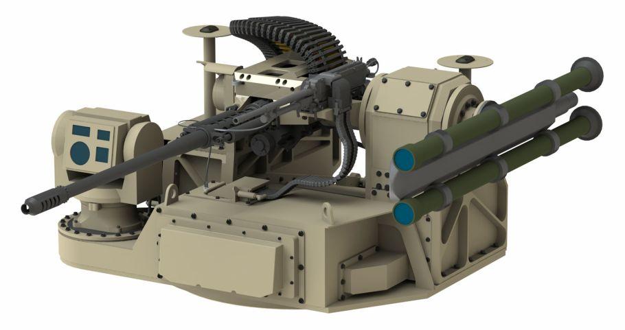 Moog propone una torreta RIwP más ligera para el esfuerzo MADIS Increment 1 del USMC.  (Moog)