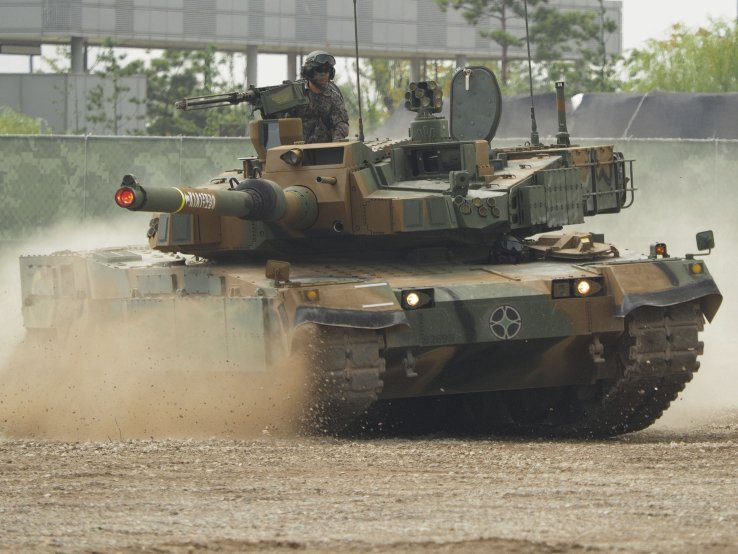 South Korea is rolling out plans to increase local production of components on key platforms such as Hyundai Rotem's K2 main battle tank (Janes/Kelvin Wong)