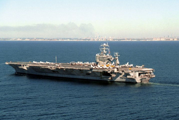 Aircraft carrier USS George Washington (CVN 73) is undergoing its Refueling Complex Overhaul at Newport News Shipbuilding, which is trying to counter a spike in Covid-19 cases. (US Navy)