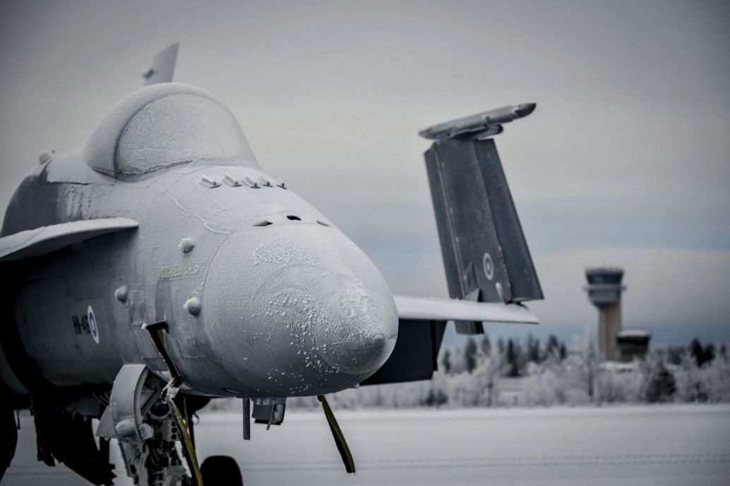The addressable cost for replacing Finland's legacy F/A-18C/D Hornet fleet has been reduced, according to figures from Finnish auditors. (Finnish Air Force)