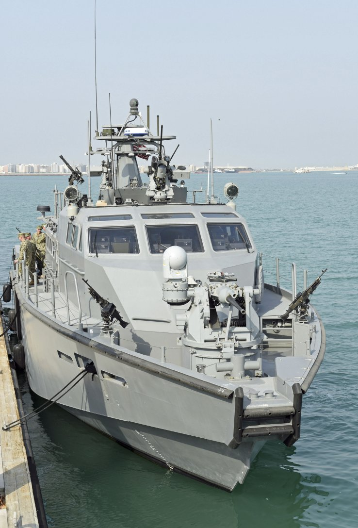 A US Navy Expeditionary Combat Command MK VI patrol craft forward deployed in Bahrain. (Richard Scott/NAVYPIX)