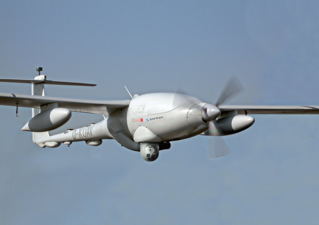 The DGA awarded Safran Electronics & Defense a risk-reduction contract in late 2019 to integrate Thales Acüleüs 68 mm induction rockets into its Patroller UAV.  (Safran)