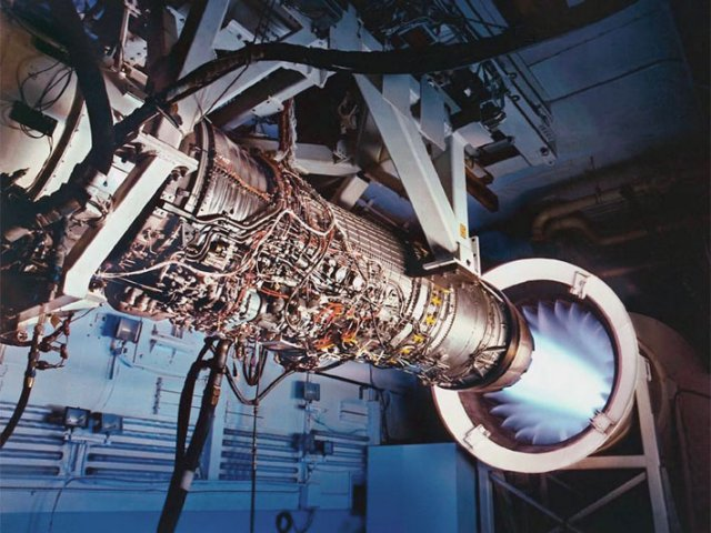The General Electric F110-GE-129 engine will power the F-15EX at least through to the end of Lot 1 production in November 2022, after which time the USAF may or may not open up the requirement to other powerplant providers. (General Electric)