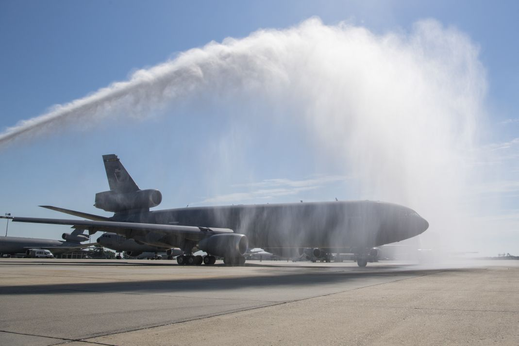 The US Air Force began retiring its KC-10A fleet with a ceremony on 13 July 2020 at Joint Base McGuire-Dix-Lakehurst, New Jersey. (US Air Force)