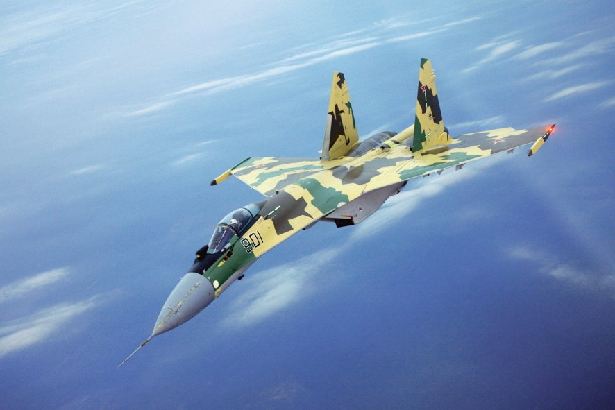 Indonesia supported its planned acquisition of Sukhoi Su-35 fighter aircraft (pictured) through a countertrade programme. Jakarta now wants to roll out the payment method on a wider scale to boost its economy. (Sukhoi)