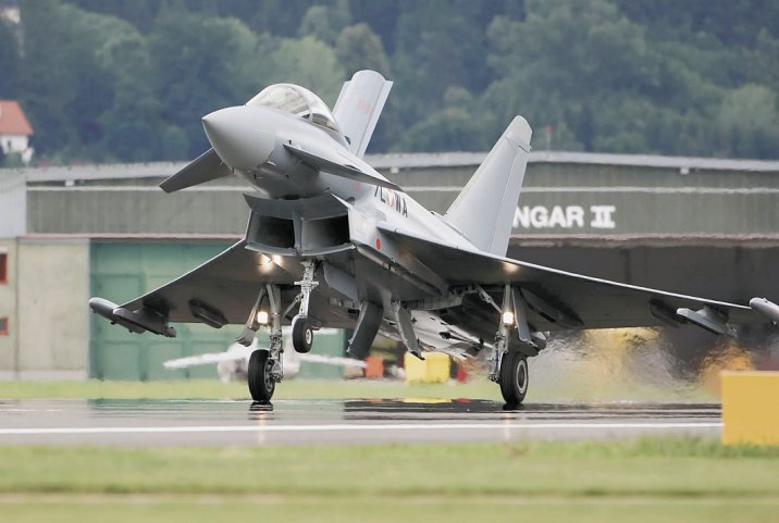 Austria's first Typhoon, which landed in the country in 2007.  (Austrian Air Force)