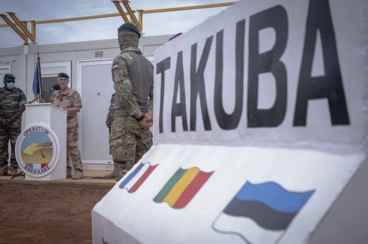 Operation Barkhane commander Major General Pascal Facon inaugurates Task Force Takuba on 15 July. (French Ministry of Armed Forces)
