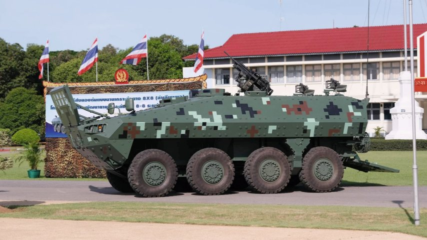 The RTA was handed over a new prototype of the locally developed Black Widow Spider wheeled AFV on 9 July.  (DTI)