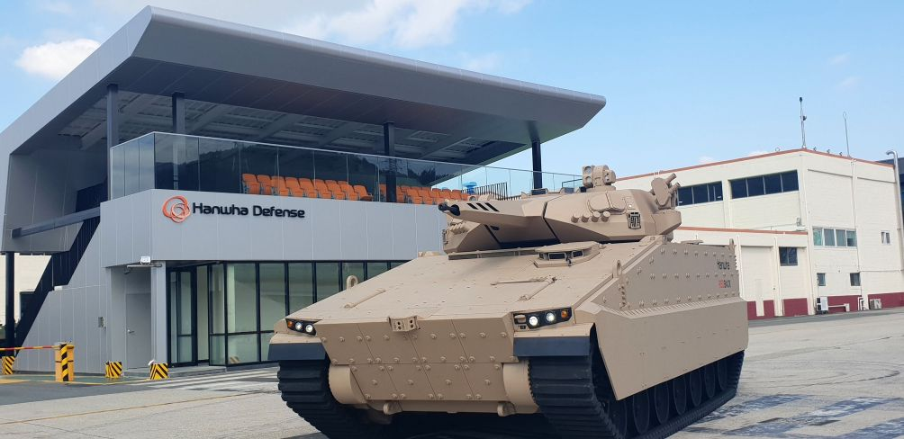 Hanwha Defense will deliver on 28 July two initial Redback IFVs to Australia for testing under the Australian Army's Land 400 Phase 3 programme. (Hanwha Defense)