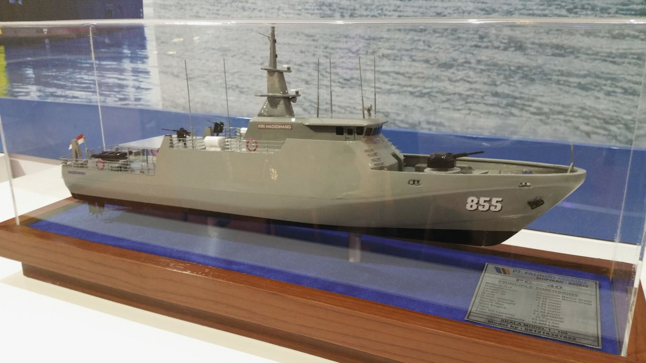 A model of the PC-40-class patrol boat operated by the Indonesian Navy (Janes/Ridzwan Rahmat)