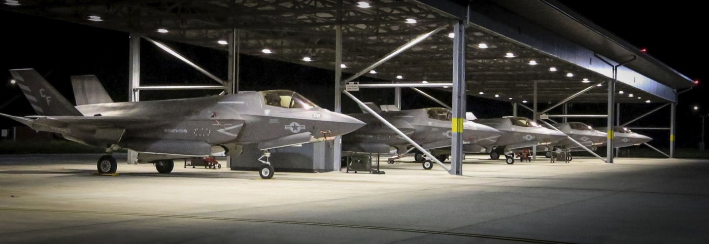 Seen shortly after their arrival at RAF Marham in the UK, US Marine Corps F-35Bs will take part in a number of exercises from          Queen Elizabeth          over the coming weeks before deploying on the ship's maiden operational sailing in 2021.        (DVIDS)