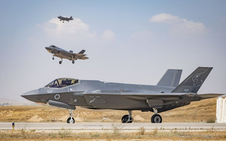 F-35Is at Nevatim Air Force Base in southern Israel. (Israeli Air Force)