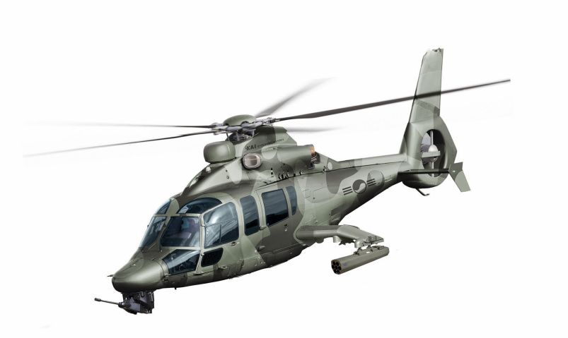 Airbus Helicopters and Korea Aerospace Industries are planning to collaborate on the production in South Korea of the H155 helicopter, which forms the base design of South Korea's Light Attack Helicopter (pictured). (Airbus Helicopters)