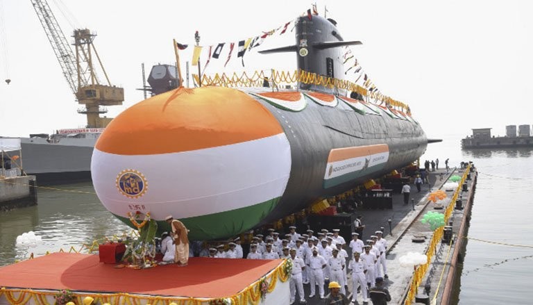 The government is expected to divest a 15% stake in Mumbai-headquartered Mazagon Dock Shipbuilders, constructor of the Indian Navy's Kalvari (Scorpène)-class submarines.  (Indian Navy )