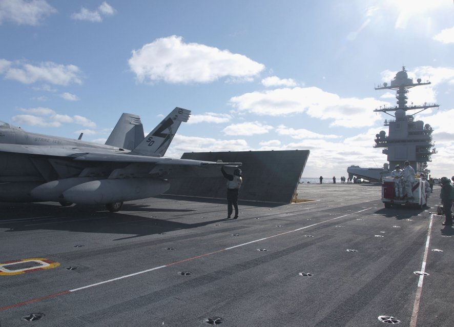 The US Navy continues to see long-range strike as the future focus for Ford-class carriers. (Michael Fabey)