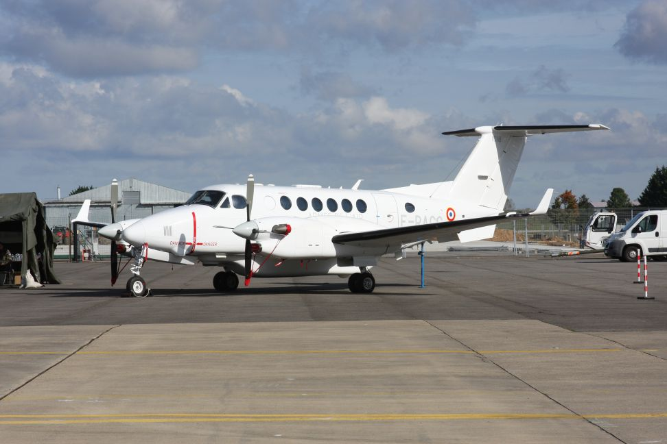 The first of eight Thales-Sabena Technics King Air 350 Extend Range (ER) ISR aircraft for France will enter service in 2021. (Janes/Emmanuel Huberdeau)