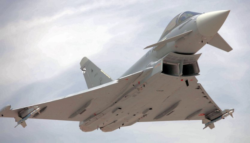 Spain appears set to increase its Eurofighter fleet under Project 'Halcon', with a contract for an initial 20 aircraft anticipated to be signed off in 2021. (Eurofighter)