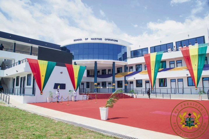 The new School of Maritime Operations at the Navtrac complex.     (The President of the Republic of Ghana)