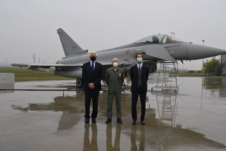 Italy's 96th and final Eurofighter was delivered to the air force during a ceremony at Leonardo's Caselle facility near Turin. (Leonardo)