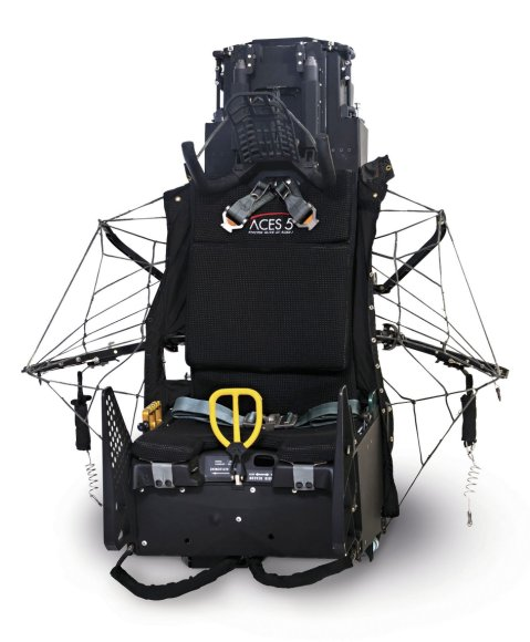 The ACES 5 seat is said to reduce overall ejection-related major injuries in general and ejection-related spinal injuries in particular. (Collins Aerospace)