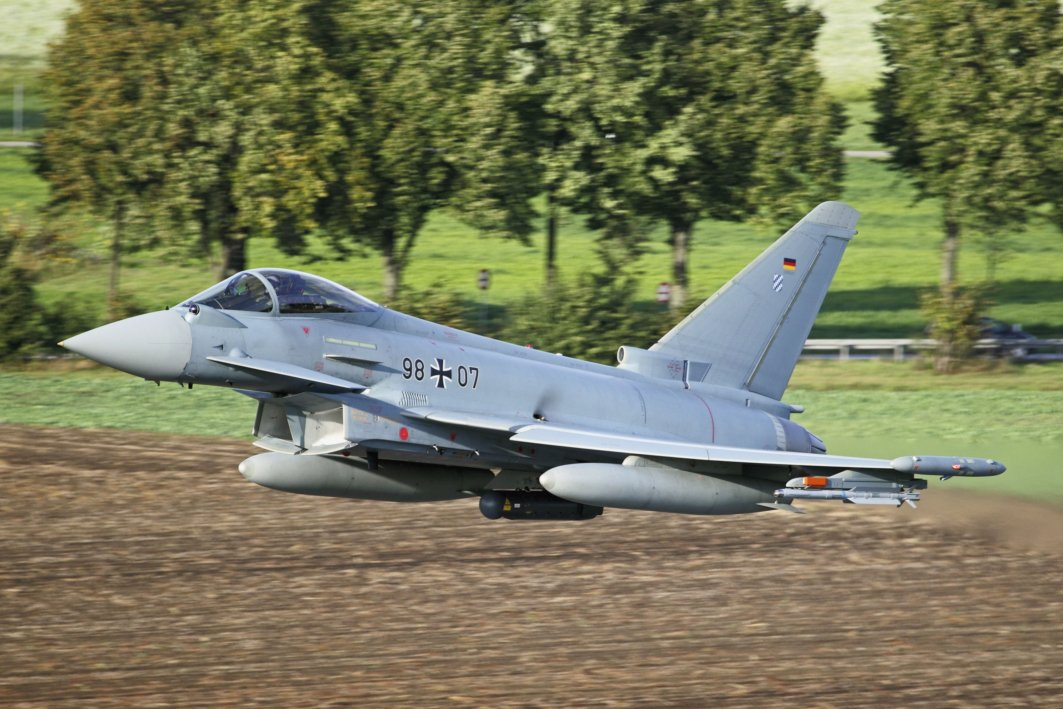The Luftwaffe is to retire its 38 Tranche 1 Eurofighters and replace them with Tranche 3 aircraft fitted to the new Quadriga configuration (Airbus)