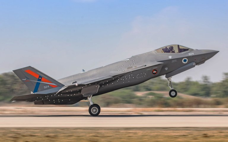 The Israeli Air Force hailed the arrival of the F-35I testbed at Tel-Nof Airbase as greatly enriching the service's independence in improving its division of fifth-generation aircraft.  (Israeli Air Force)