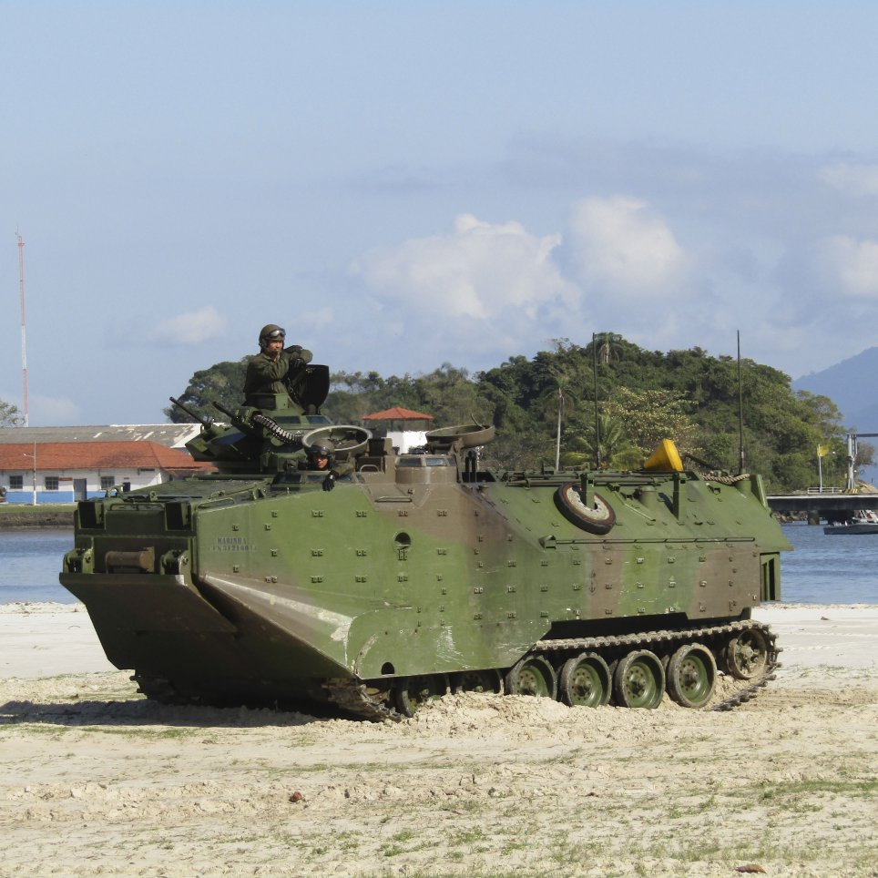 The Brazilian Marines received 23 AAV7A1 RAM/RS vehicles between 2017–18. The service is now embarking on a force redesign effort that will include new weapons. (Victor Barreira)