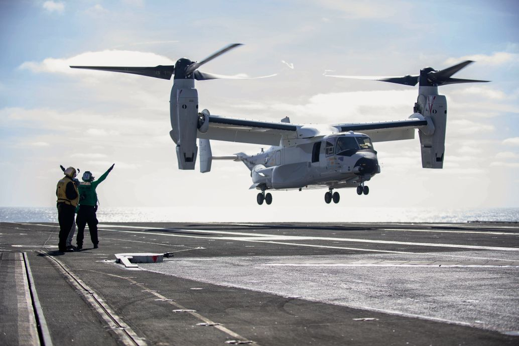 The Navy's Osprey landed, refueled and took off from an aircraft carrier for the first time