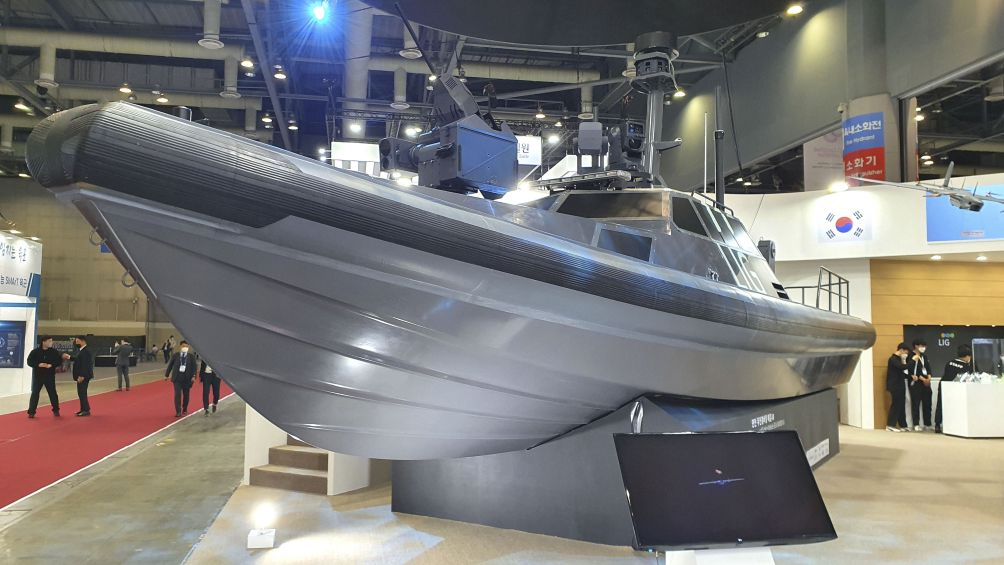 LIG Nex1 has expanded its Sea Sword family of USVs with a third vehicle. (Dae Young Kim)